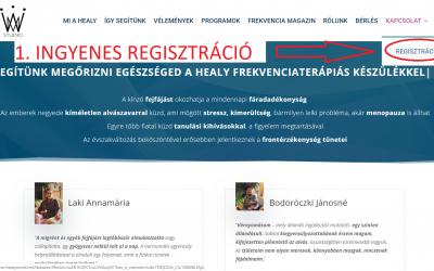Ingyenes regisztráció menete